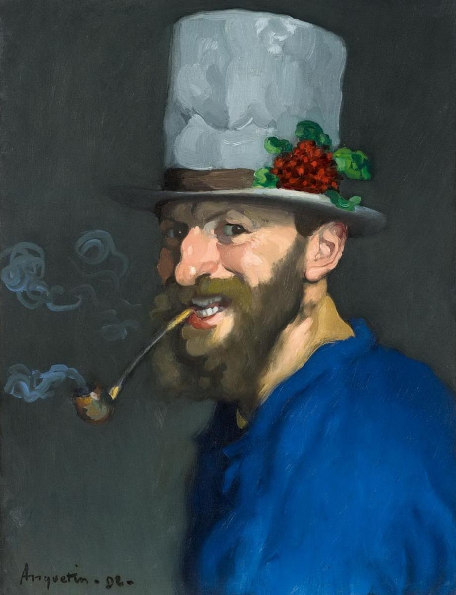 Луи Анкетен. Автопортрет с трубкой. 1892
