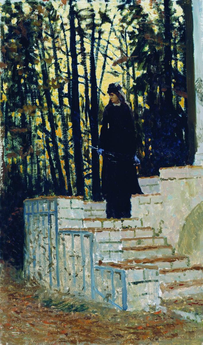Илья Ефимович Репин. Женская фигура на фоне пейзажа