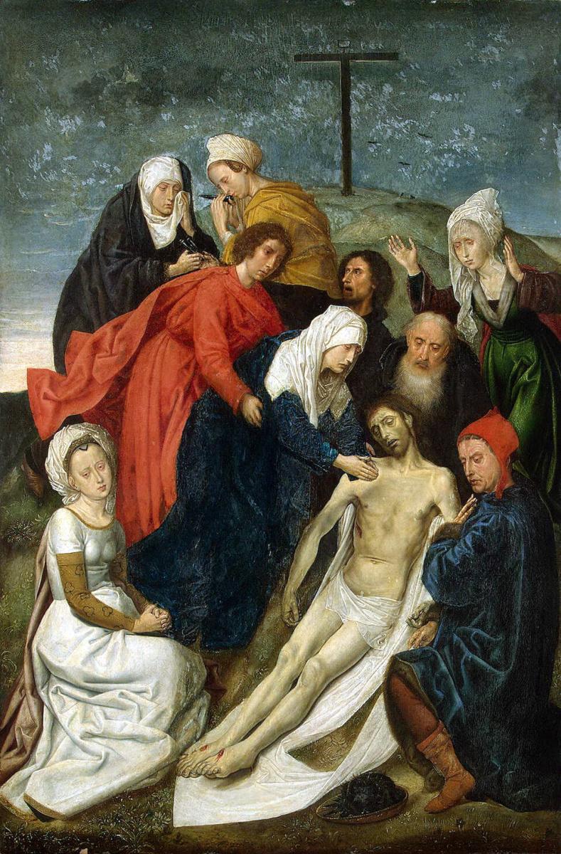 Гуго ван дер Гус. Оплакивание Христа