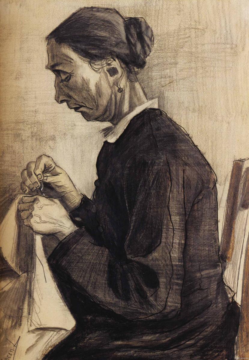Винсент Ван Гог. Син за шитьем