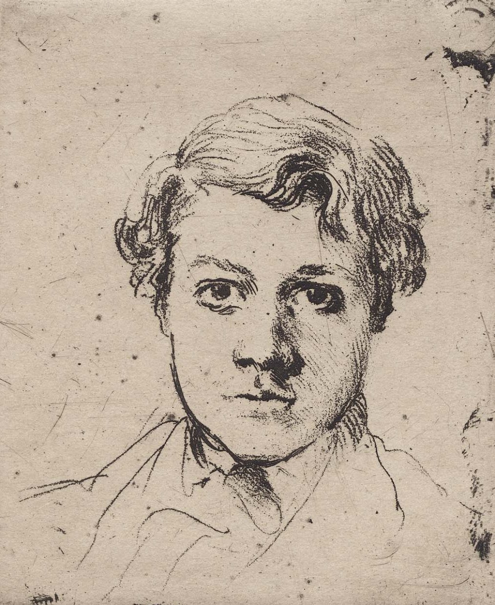 Edgar Degas. Portrait of Rene de, GA, brother of the artist
