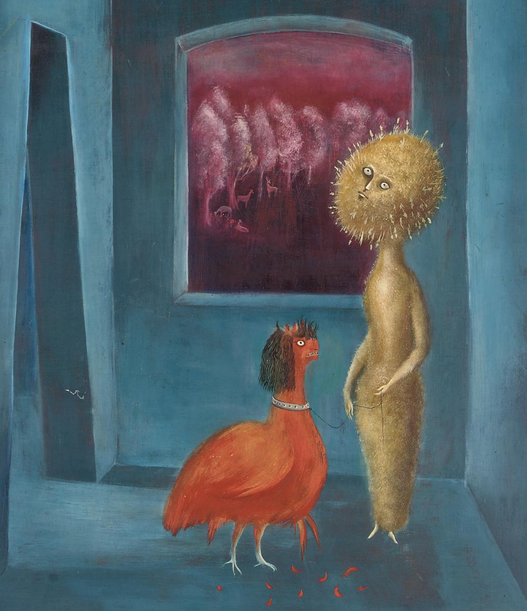 Леонора Каррингтон. Курица сестры (Маргаритка, дай мне ответ). Фрагмент