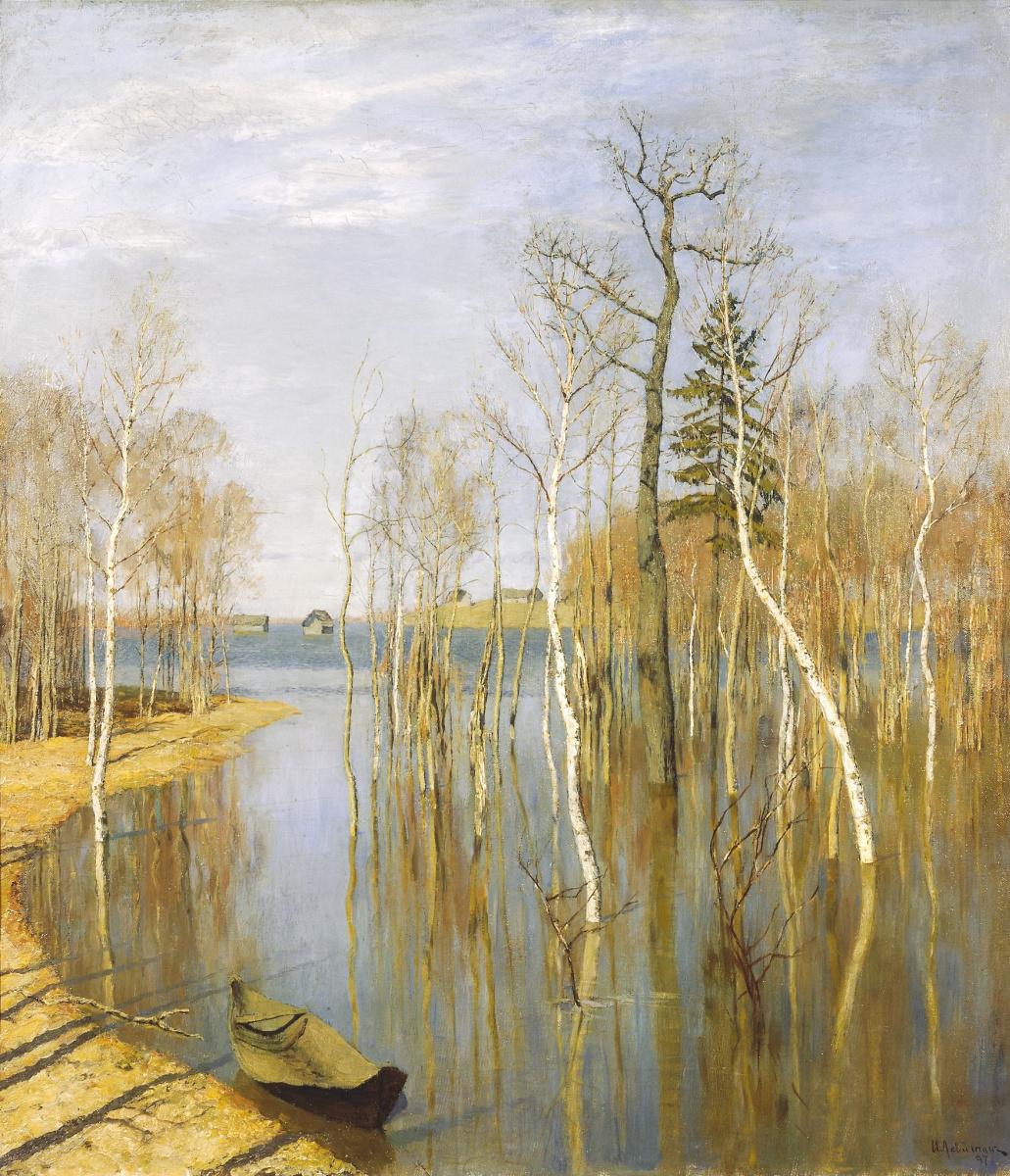 Isaac Levitan. Spring. Big water