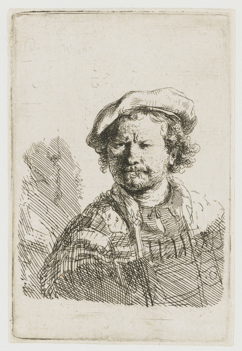 Рембрандт Харменс ван Рейн. Автопортрет в берете