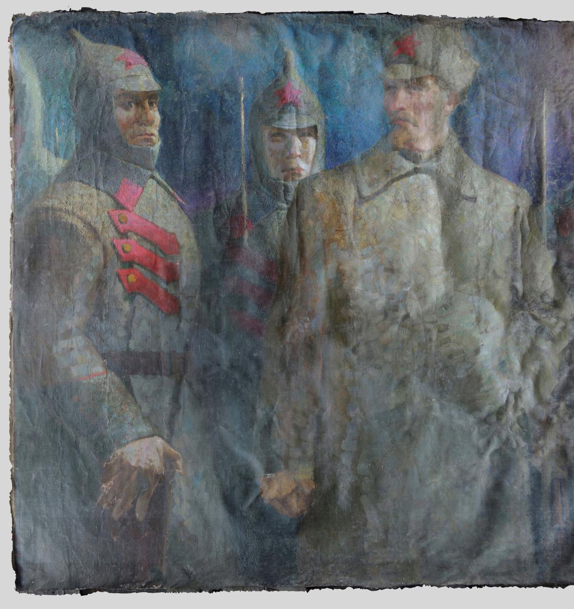 """Alexandrovich Rudolf Pavlov. """"Born of the Revolution"""", 1917-1921. Fragment."""