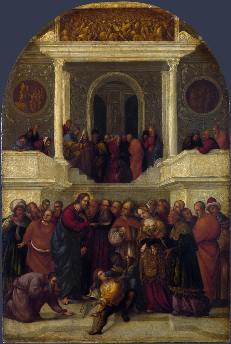Лодовико Маззолино. Христос и блудница