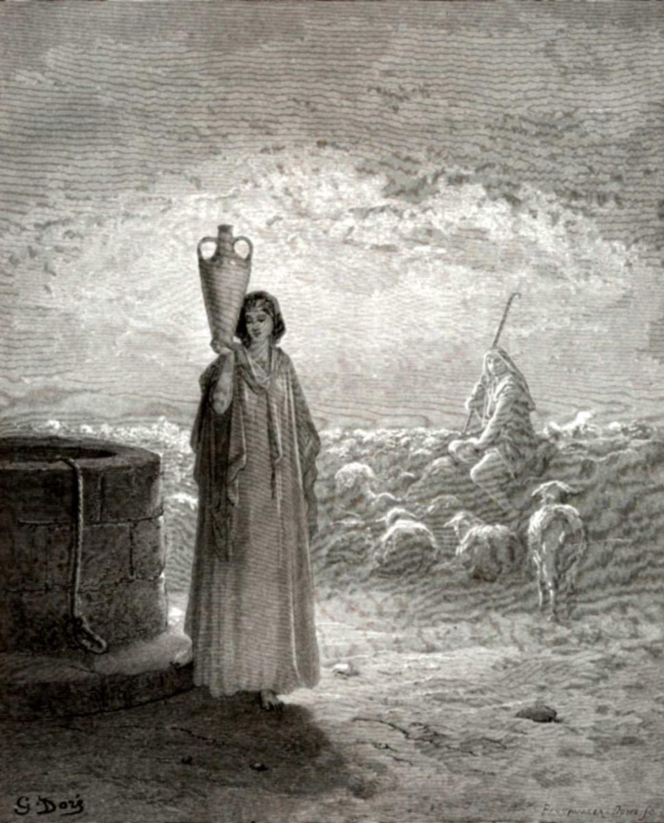 Поль Гюстав Доре. Иллюстрации к Библии: Иаков пасет стада Лавана