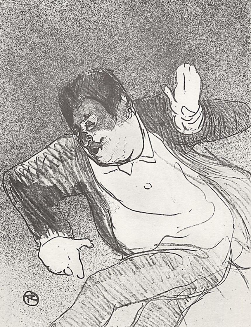 Анри де Тулуз-Лотрек. Кодьё, танцующий в маленьком казино