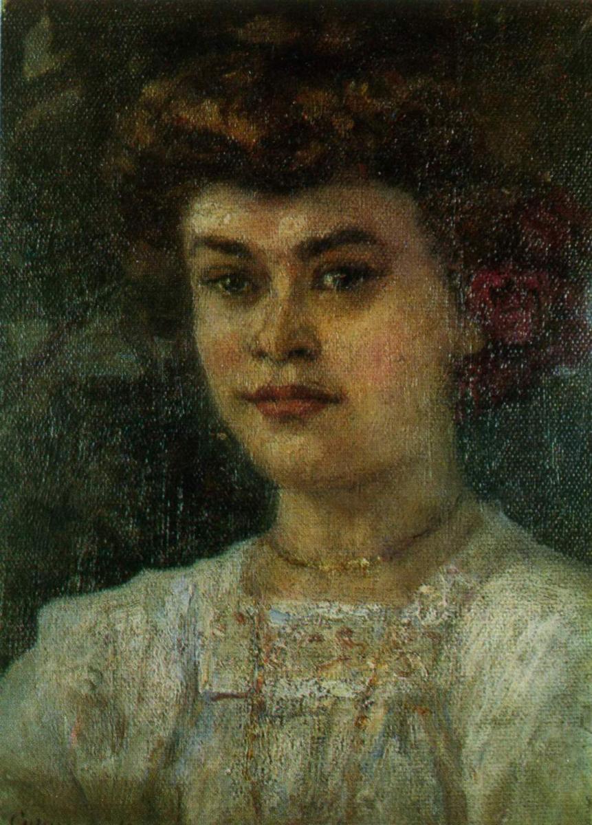 Vasily Ivanovich Surikov. Portrait Of Z. S. Hemingway