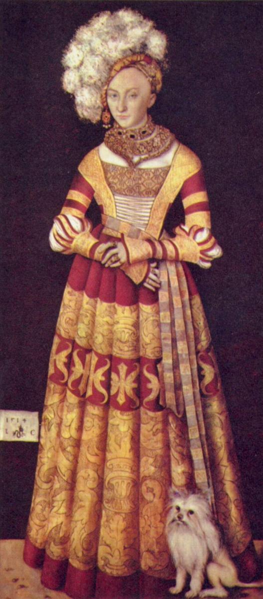 Лукас Кранах Старший. Портрет герцогини Екатерины Мекленбургской