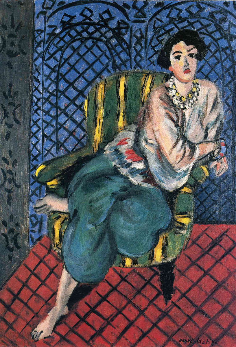 Анри Матисс. Женщина, сидящая в кресле
