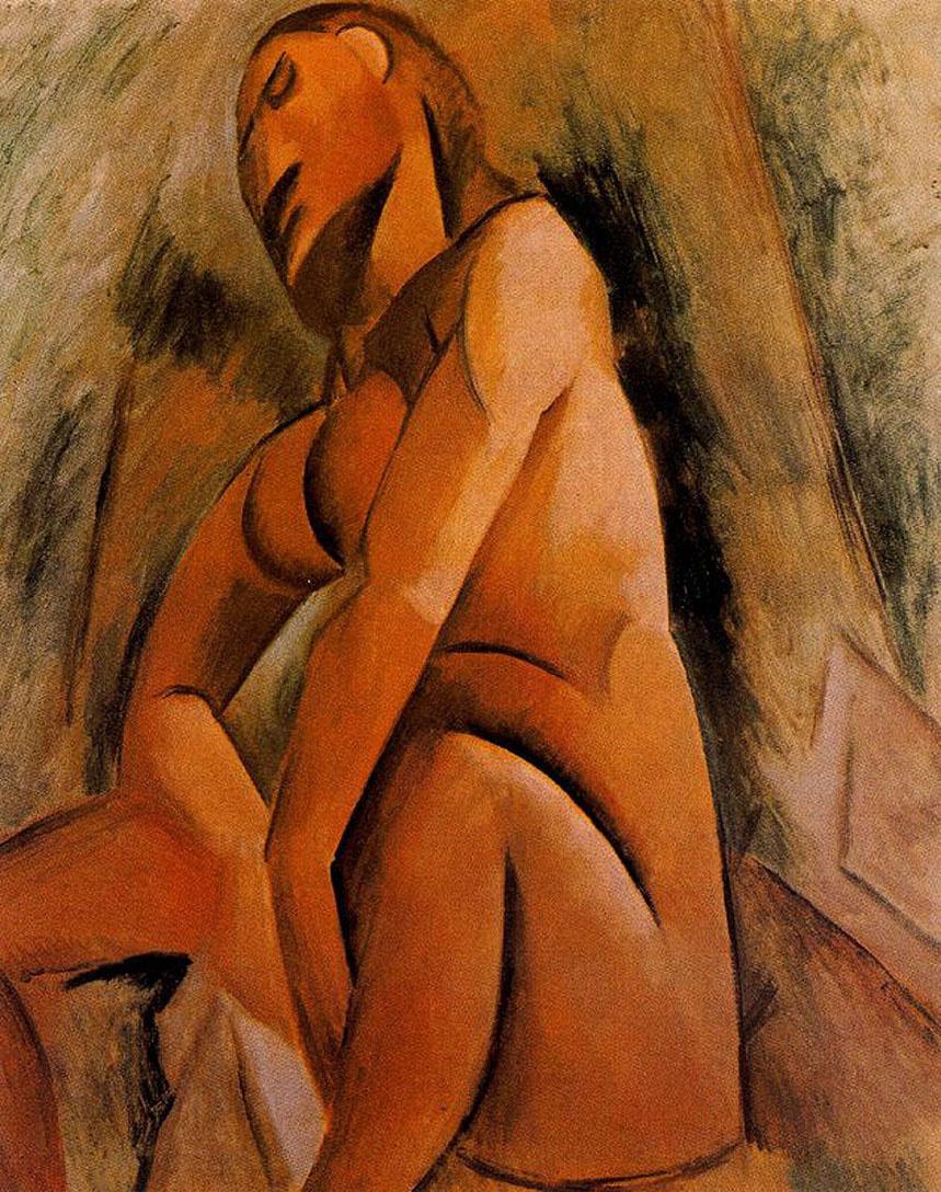 Пабло Пикассо. Сидящая обнаженная