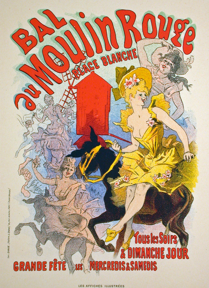 Jules Chere. Poster Bal du Moulin Rouge