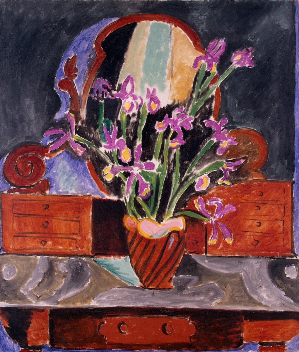 Henri Matisse. Irises in a vase