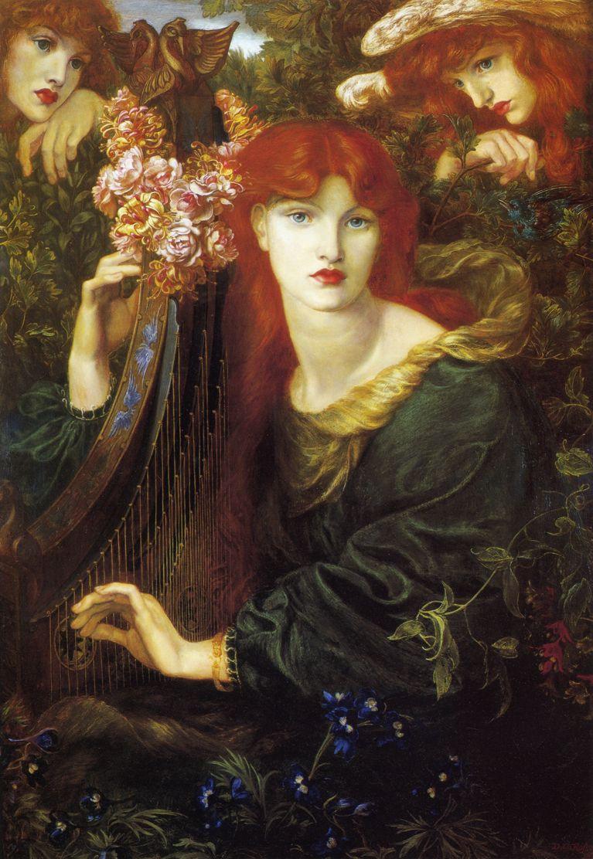 Dante Gabriel Rossetti. La Ghirlandata (Crowned with a garland)