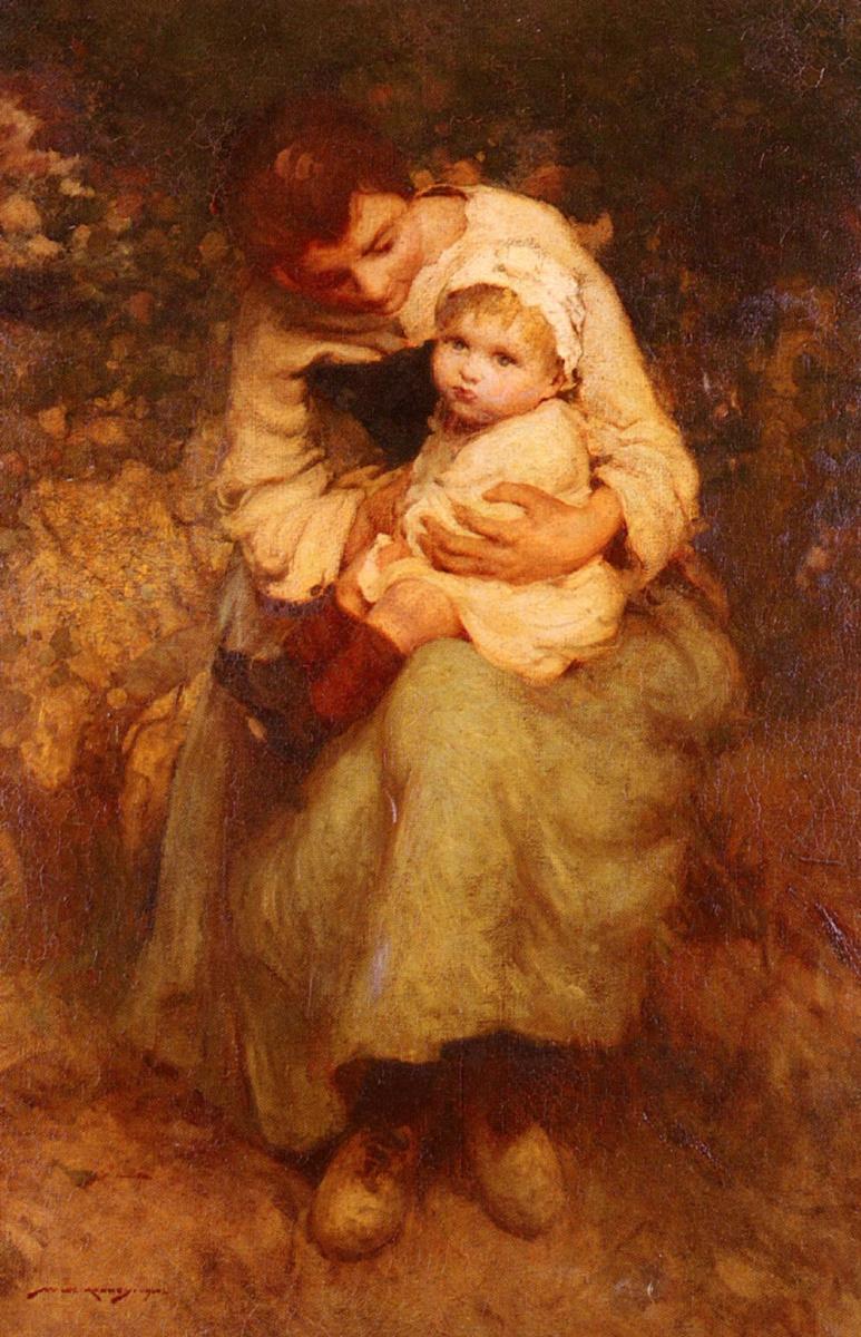 Уильям Ли. Мать, держащая своего ребенка