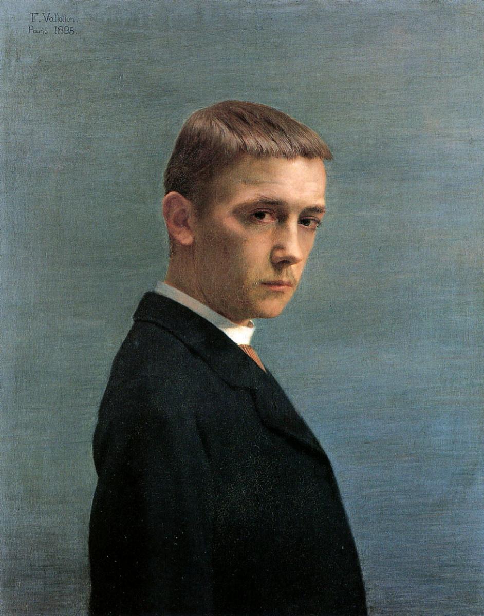 Феликс Валлоттон. Автопортрет в 20-летнем возрасте