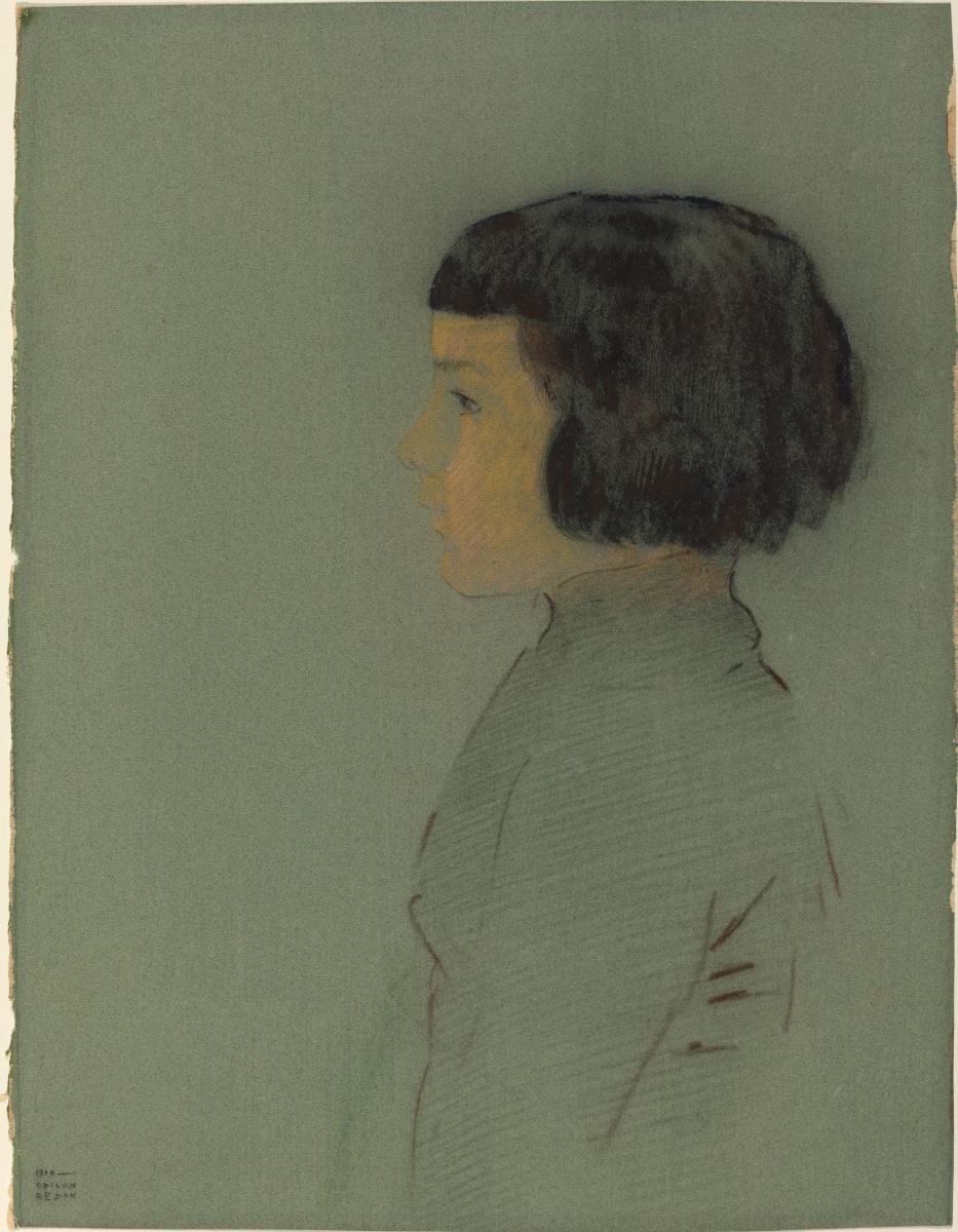Одилон Редон. Молодая женщина в профиль