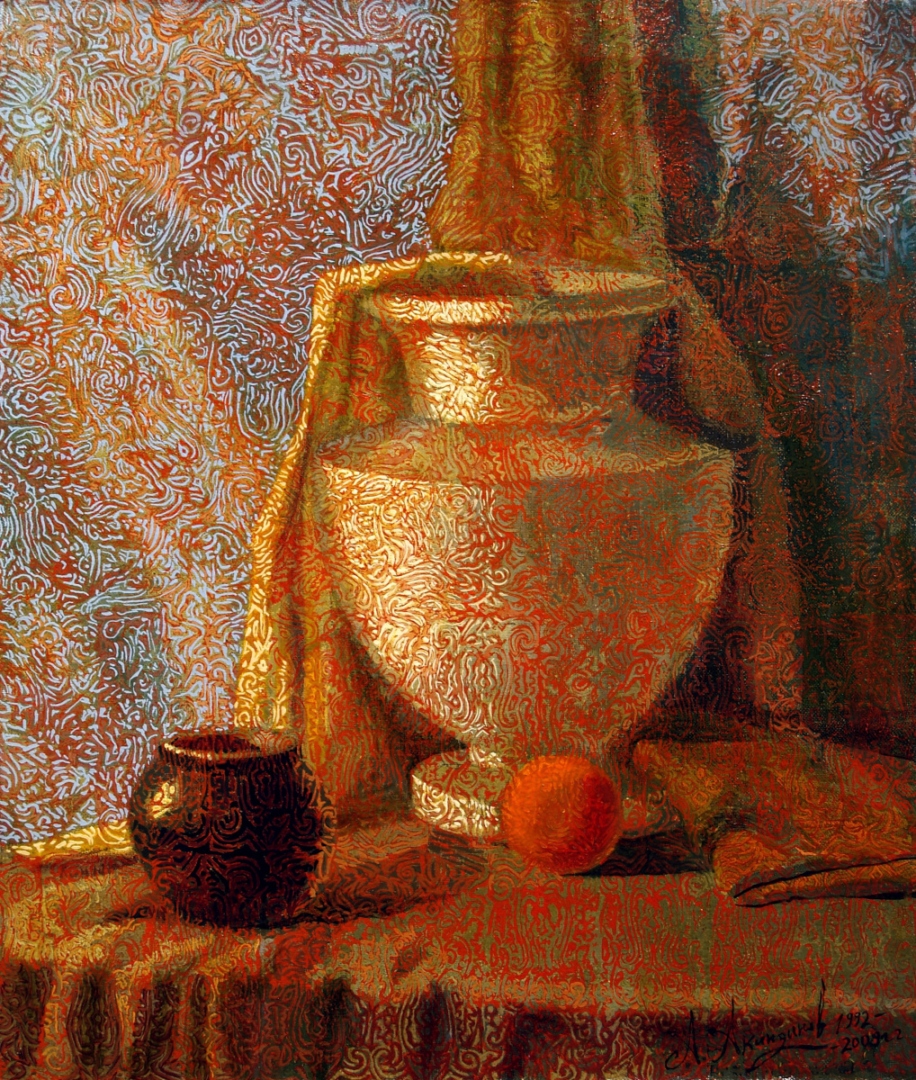 Алексей Петрович Акиндинов. Still life with peach