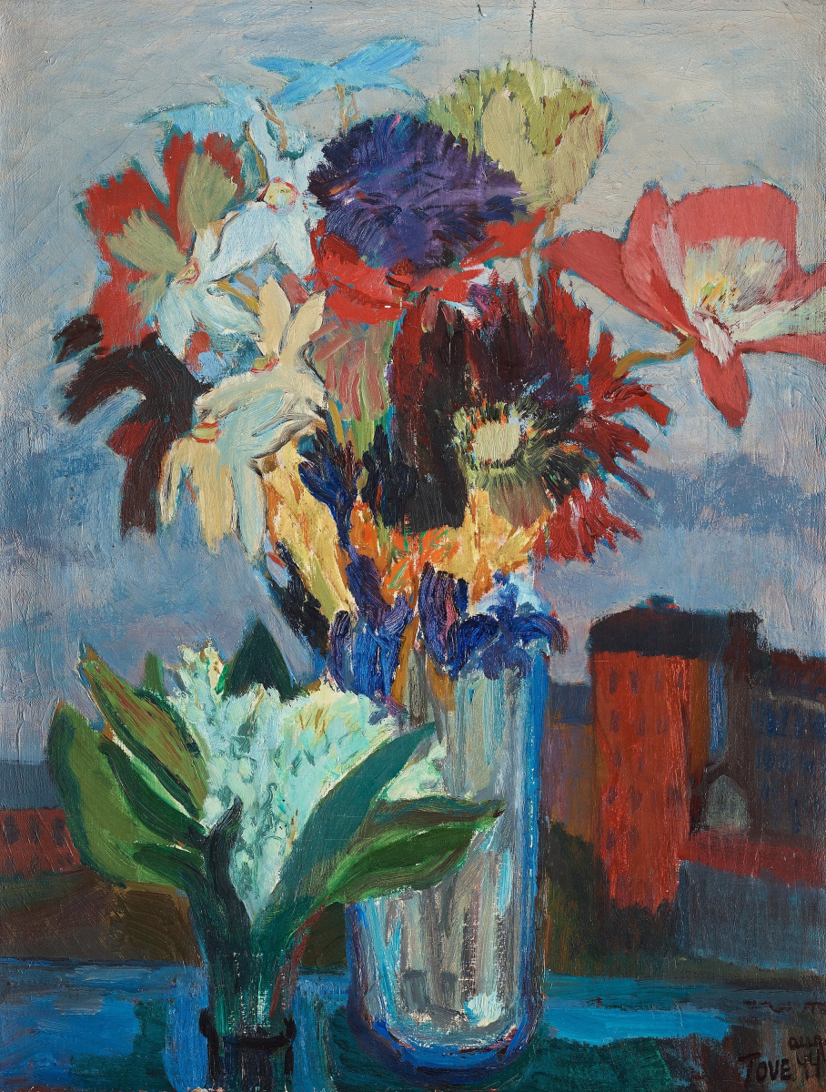 Туве Янссон. Натюрморт с весенними цветами