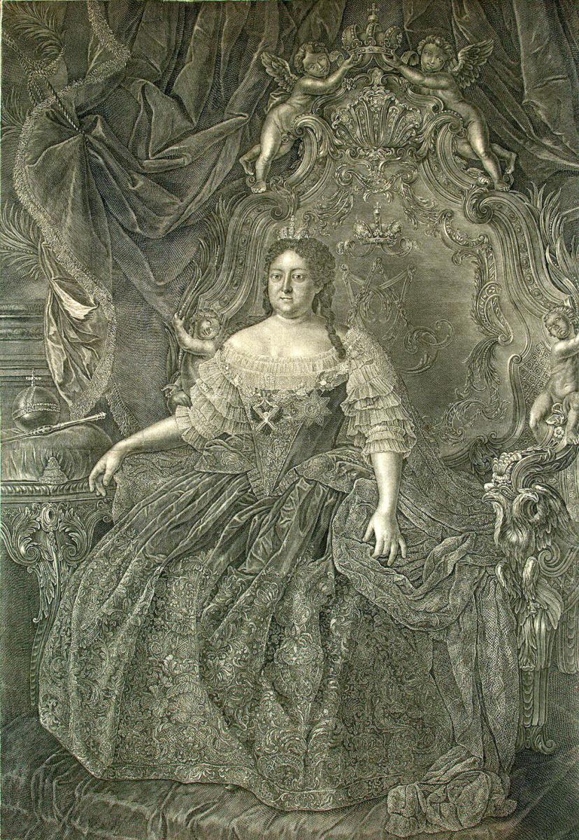 Христиан Альбрехт Вортман. Портрет императрицы Анны Иоанновны