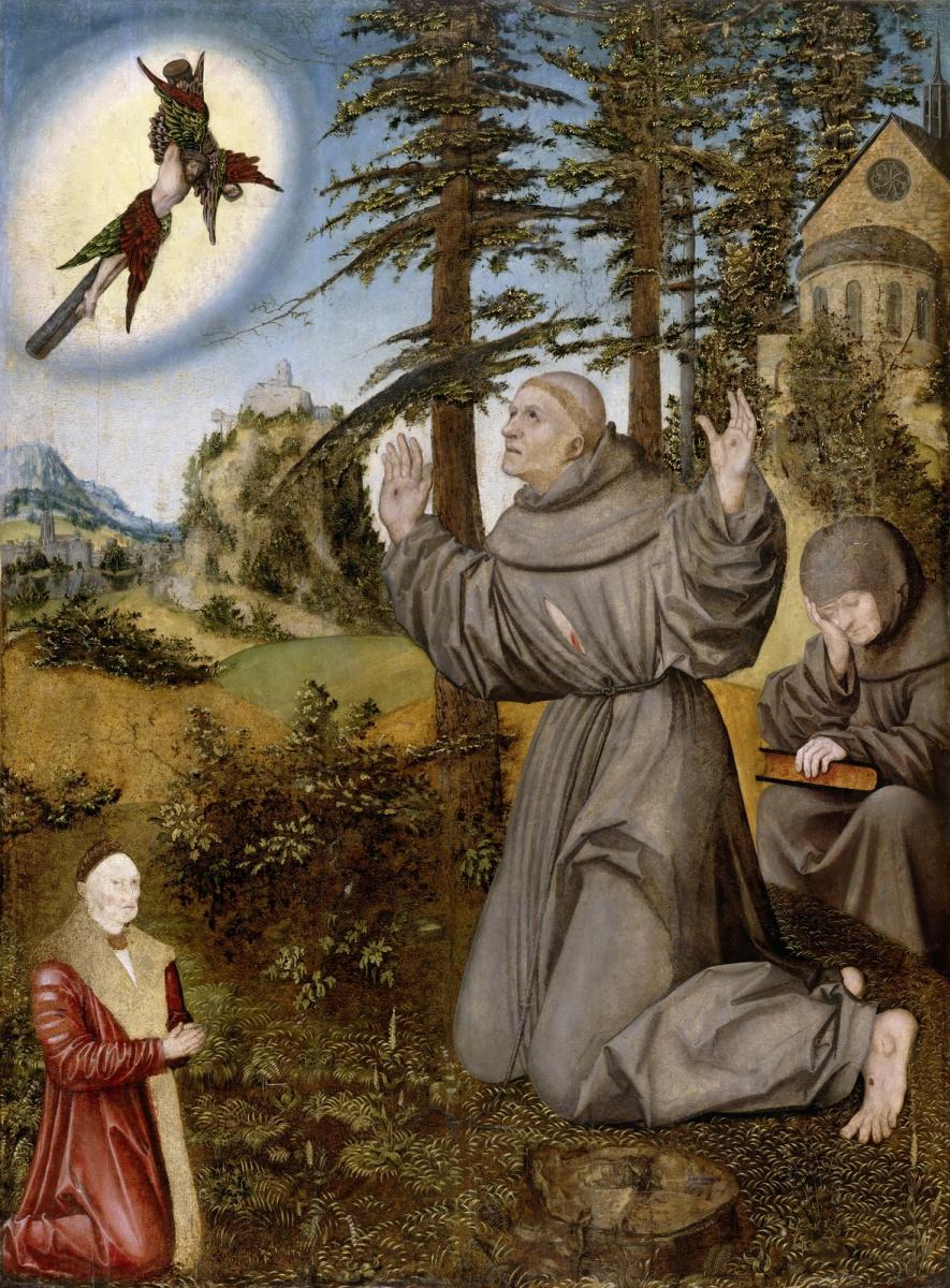 Лукас Кранах Старший. Стигматизация Святого Франциска