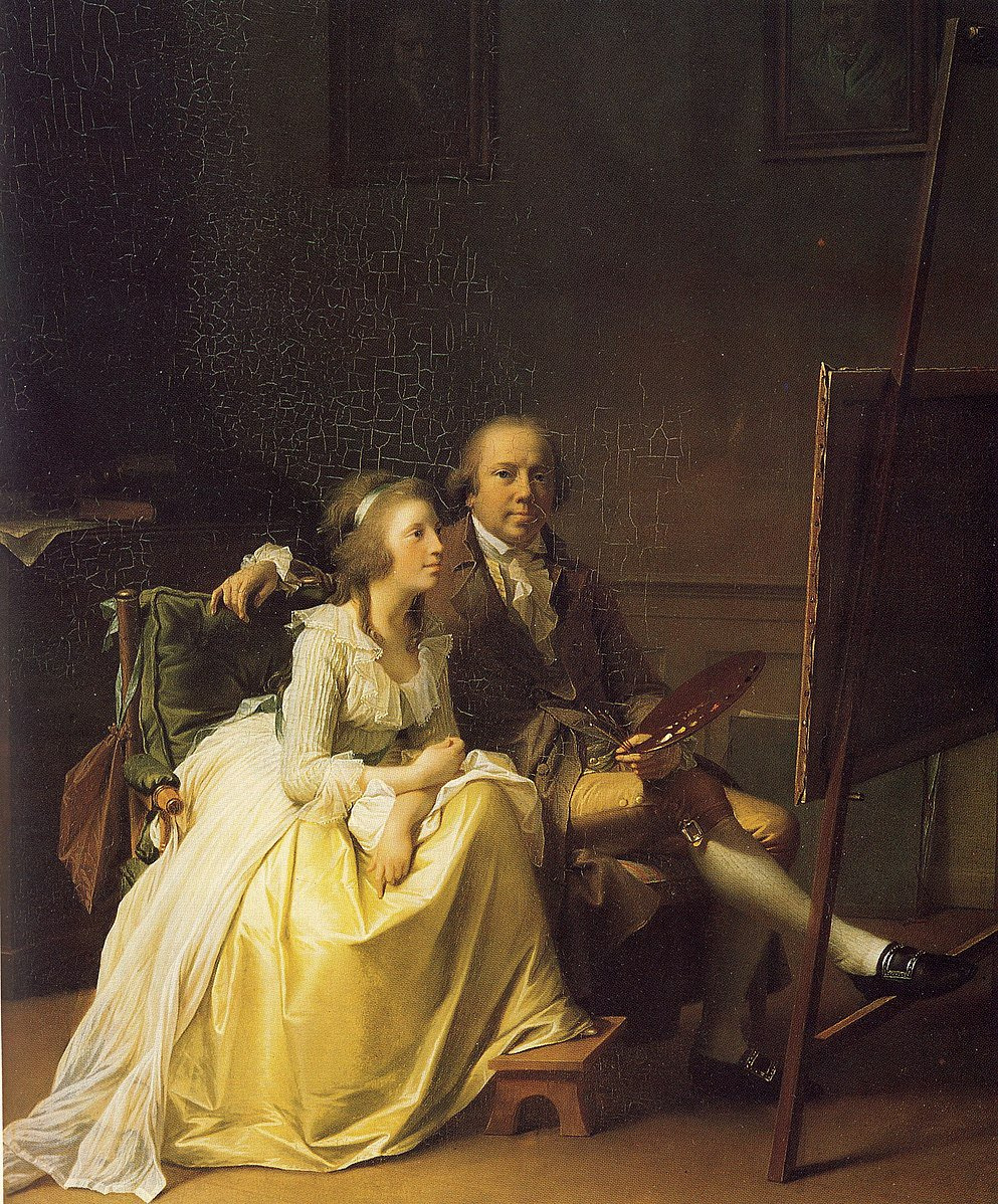Jens Yul. Self-portrait with his wife Rosin, née Dorschel