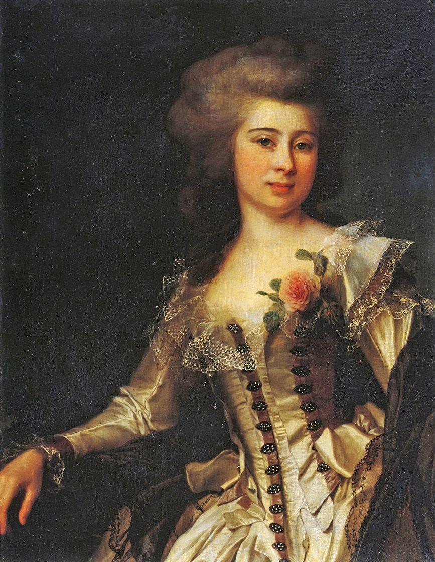 Дмитрий Григорьевич Левицкий. Портрет неизвестной с розой
