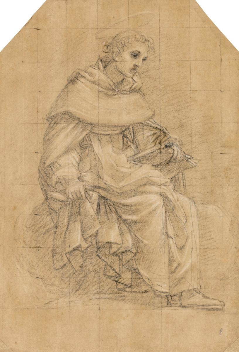 Джованни Бальоне (Баглионе). Сидящий святой