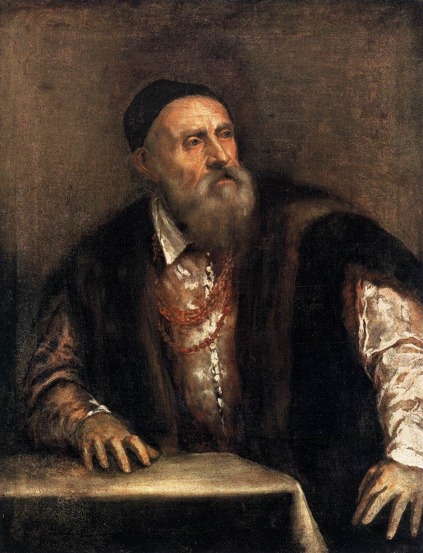 Titian Vecelli. Self-portrait