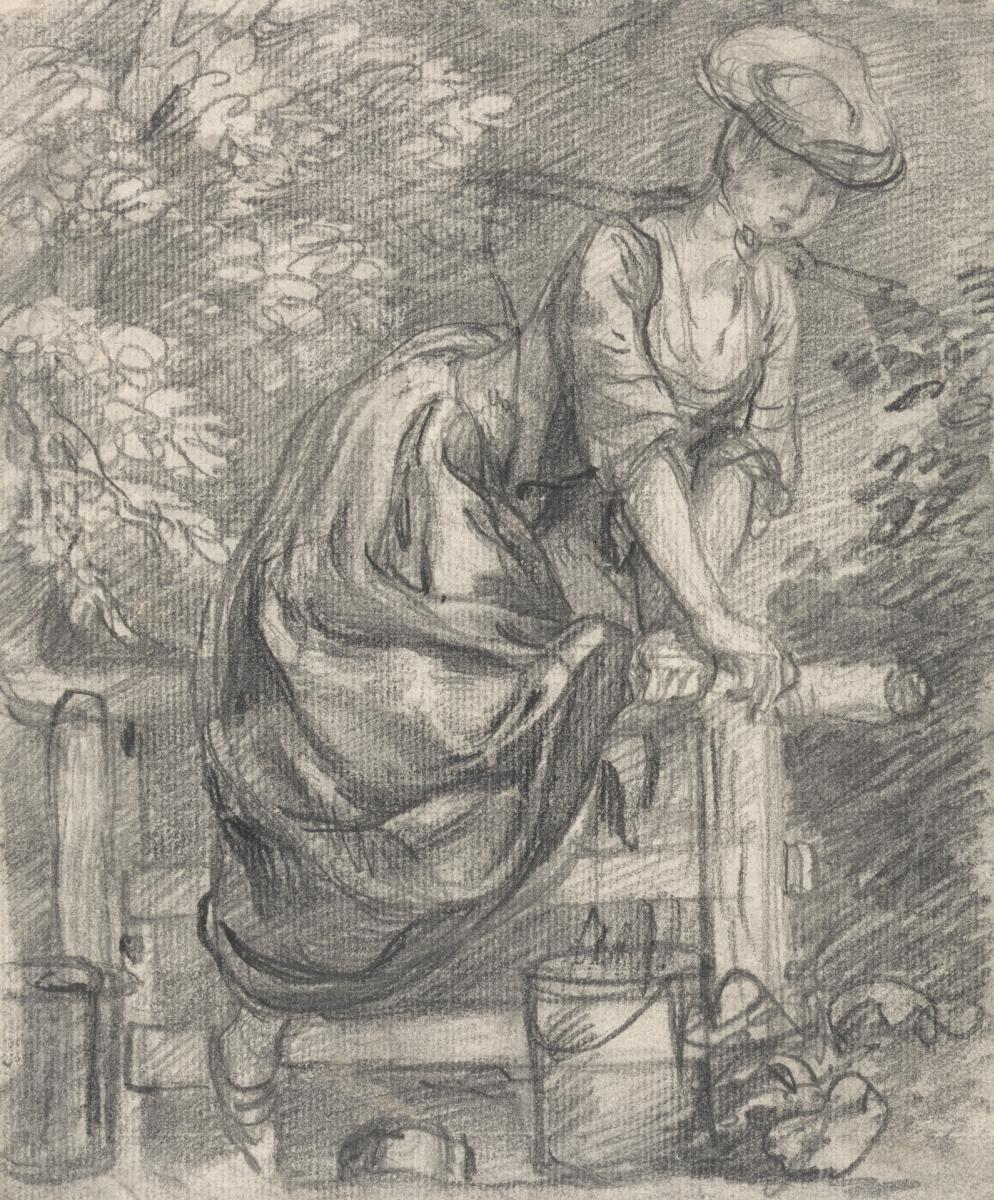 Thomas Gainsborough. Milkmaid, pereletnaya through the fence