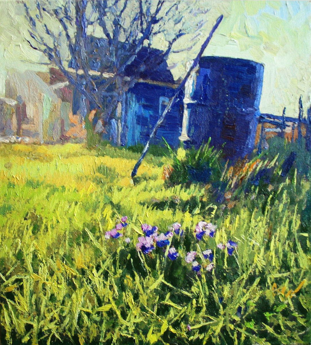 Mikhail Rudnik. Morning in the country