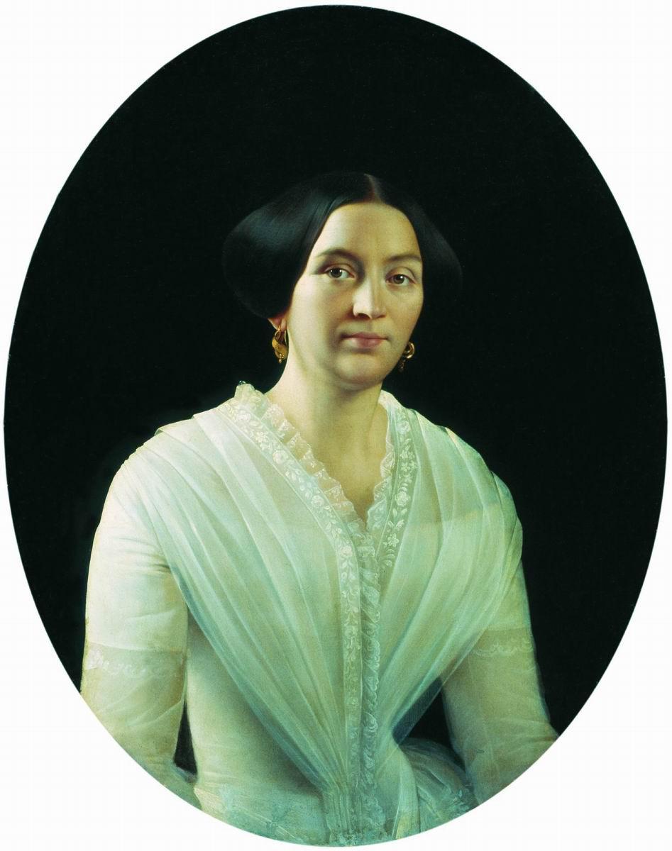 Сергей Константинович Зарянко. Портрет Анисьи Петровны Лесниковой. 1850