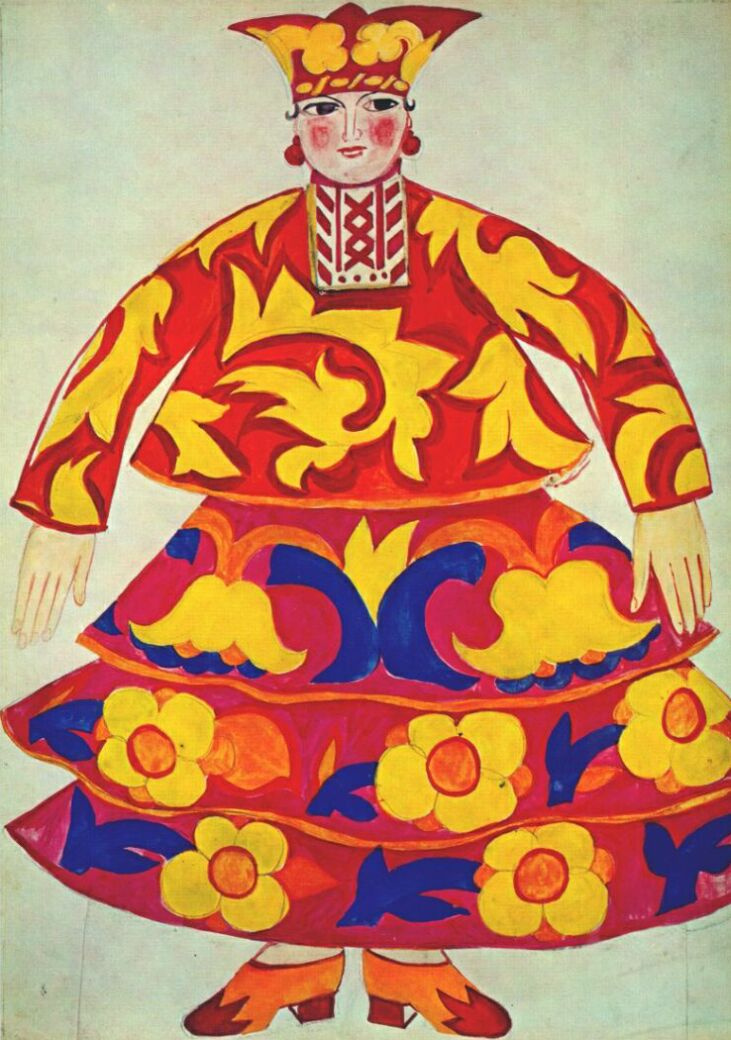"Natalia Goncharova. Costume design for the Opera-ballet ""the Golden Cockerel"" by N.. Rimsky-Korsakov"