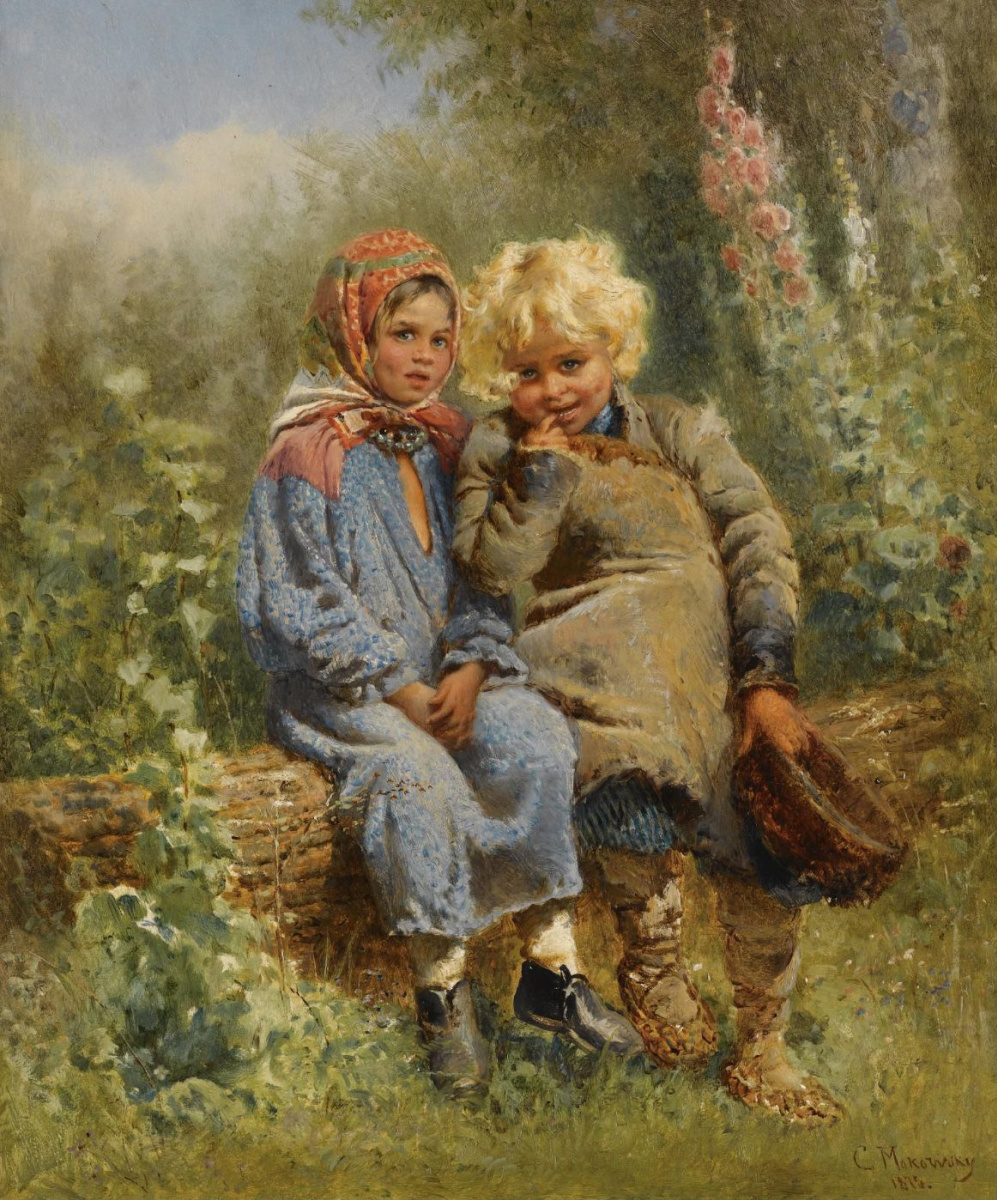 Konstantin Makovsky. Peasant children