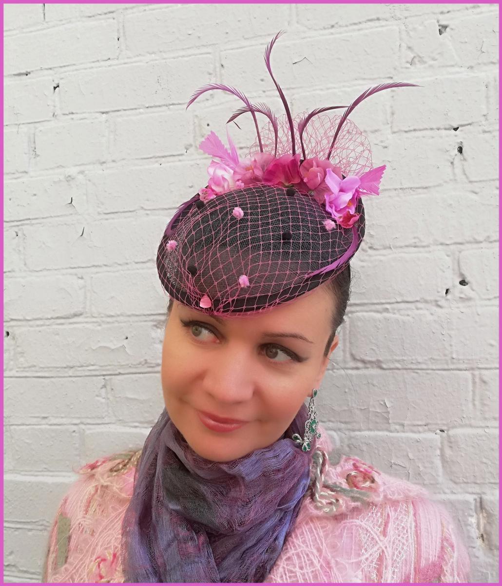 "Natalia Vladimirovna Solntseva. Hat ""Chocolate and raspberries"""