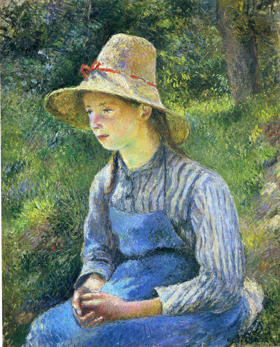 Камиль Писсарро. Крестьянская девушка в шляпе