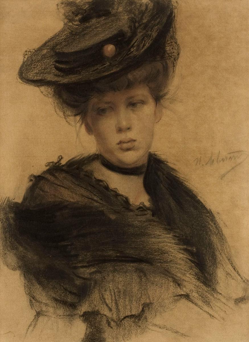 Isaac Levitan. Portrait Of A. A. Grosheva