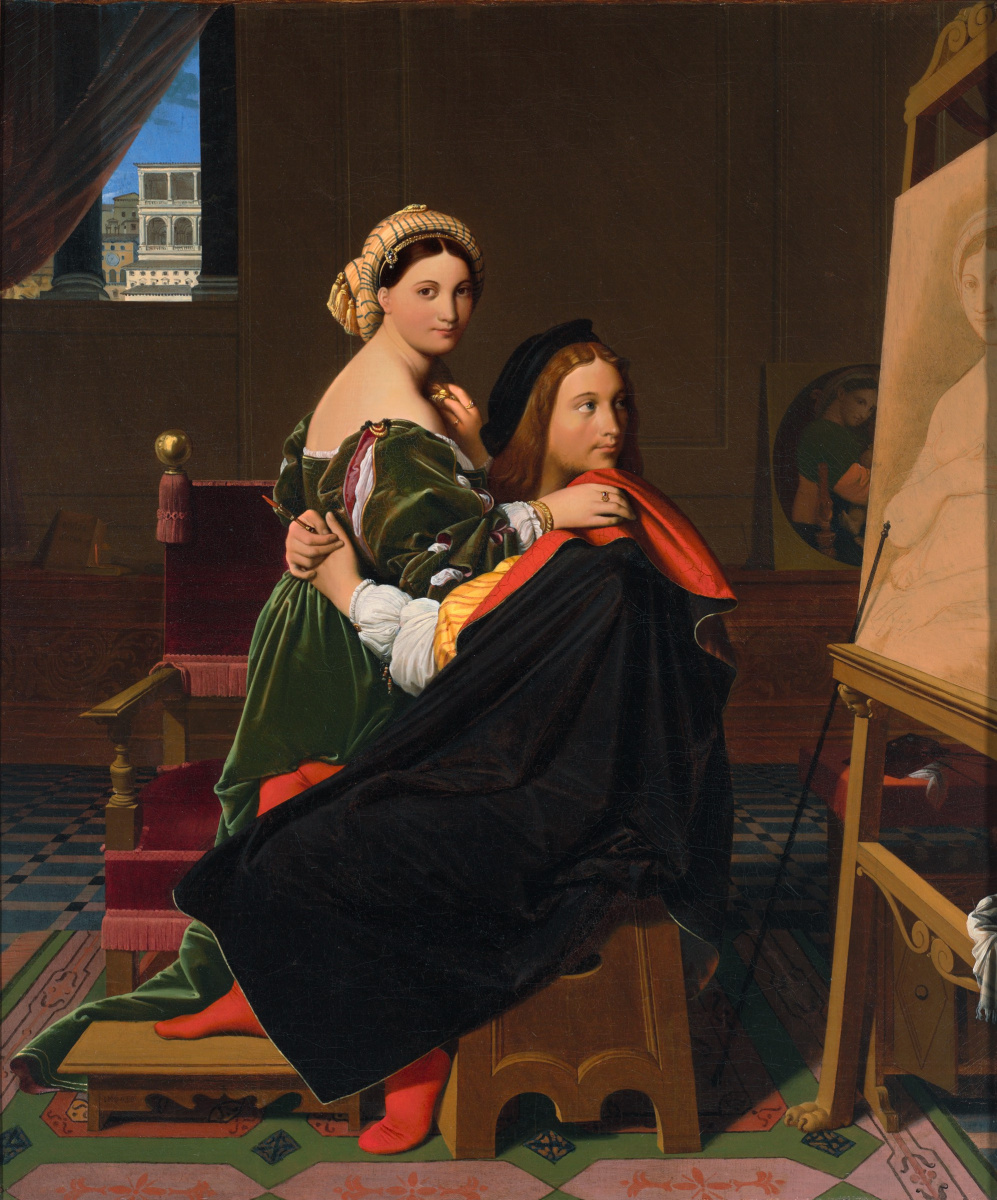Jean Auguste Dominique Ingres. Raphael and Fornarina