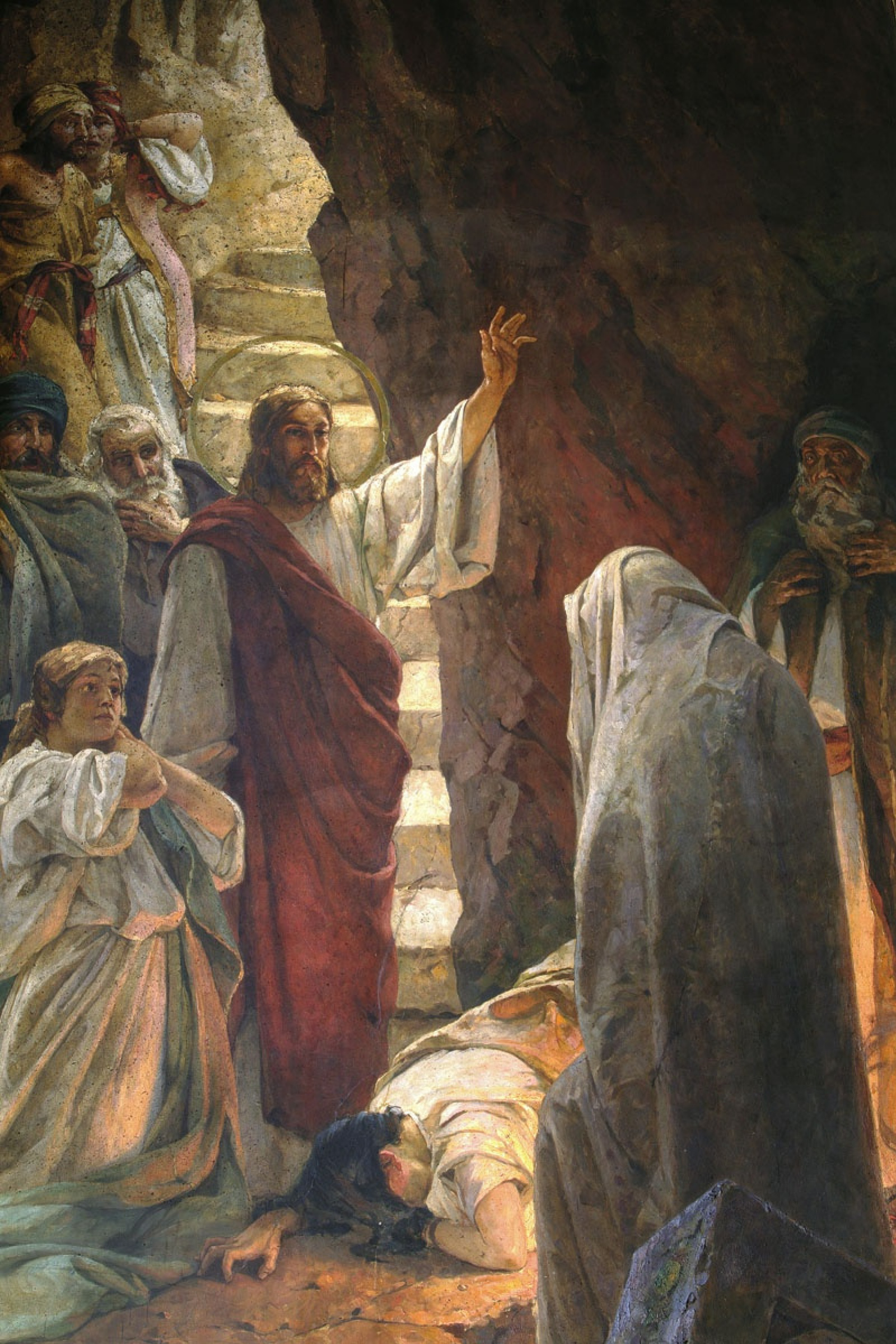 The Resurrection Of Lazarus. Fragment of painting of the Vladimir ...