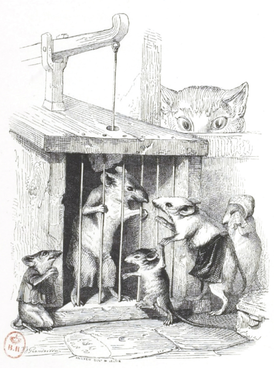 """Jean Inias Isidore (Gerard) Granville. Children, there are such dangers. """"Scenes of public and private life of animals"""""""