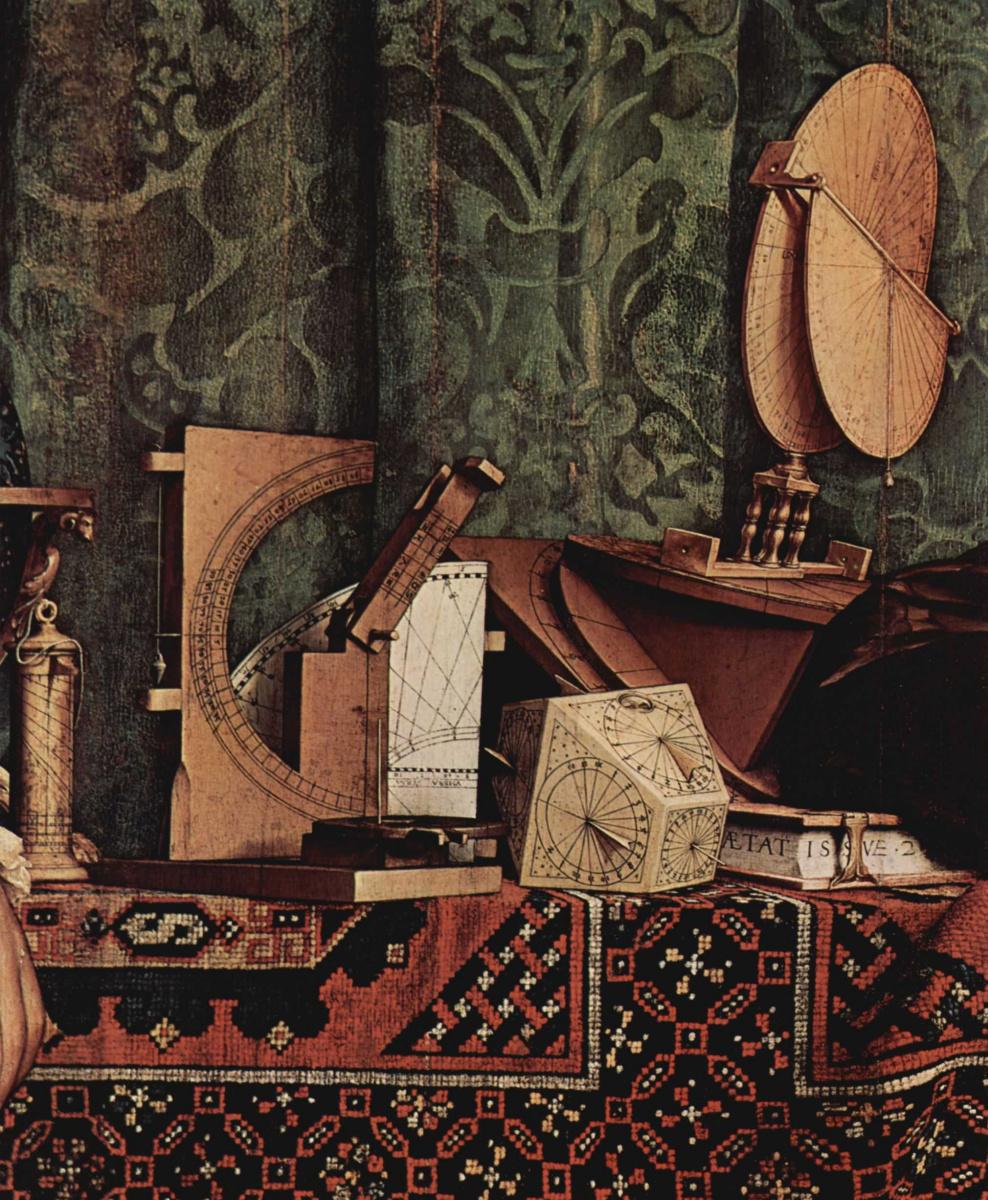 Ганс Гольбейн Младший. Портрет французских послов Жана де Дентвиля и Жоржа де Сельва. Фрагмент