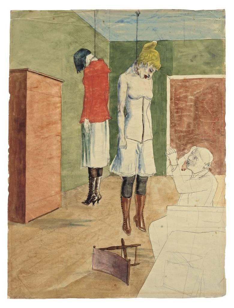 Рудольф ни один Шлихтер. Художник с двумя повешенными женщинами