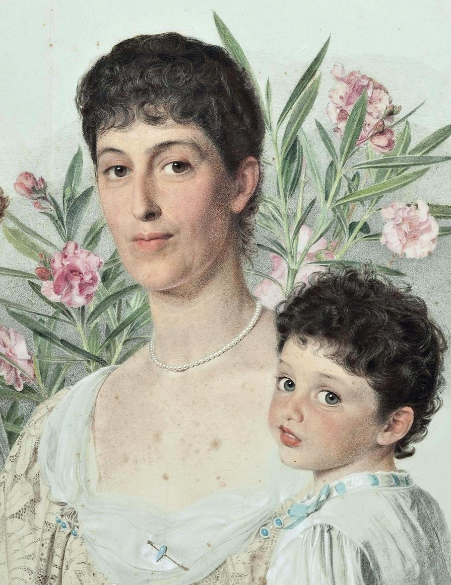 Энтони Фредерик Огастас Сэндис. Портрет матери с двумя детьми. Фрагмент