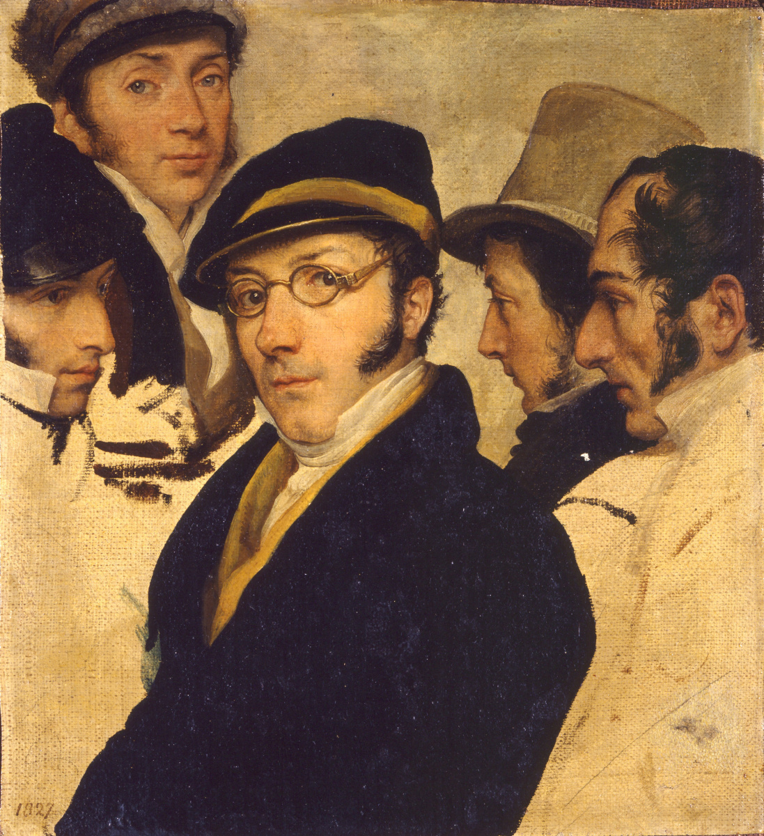 Francesco Ayets. Self-portrait with friends
