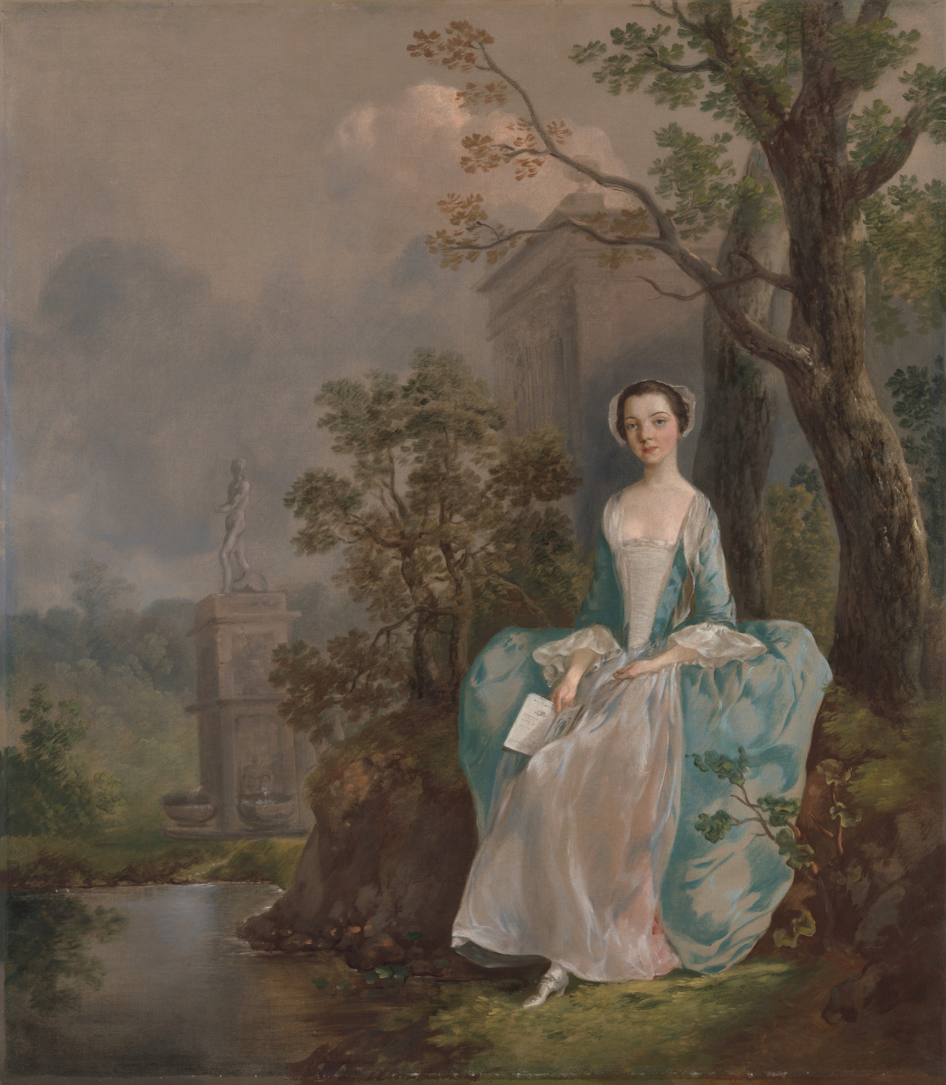 Thomas Gainsborough. A girl with a book seated in a Park