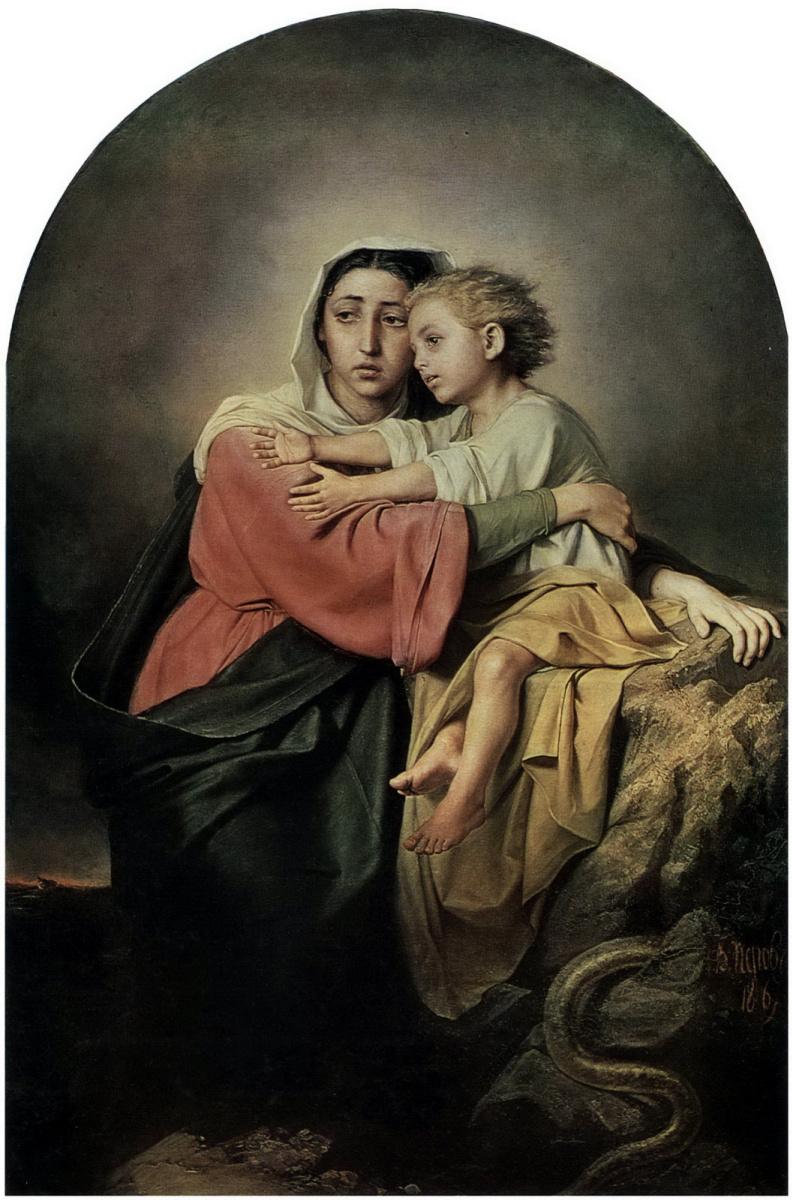Василий Григорьевич Перов. Христос и Богоматерь у житейского моря