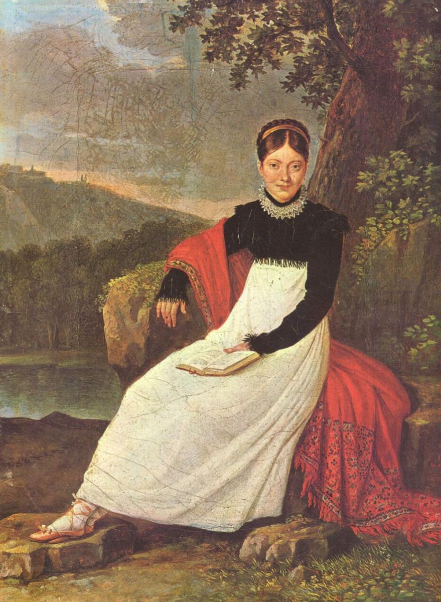 Джузеппе Каммарано. Королева Каролина в костюме неаполитанской крестьянки