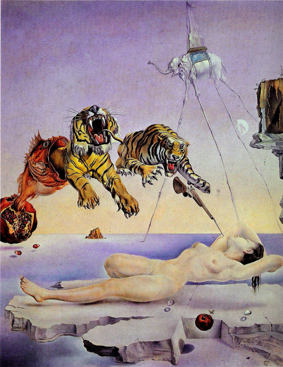 Salvador Dali. Dream inspired by the flight of a bee around a pomegranate a second before awakening