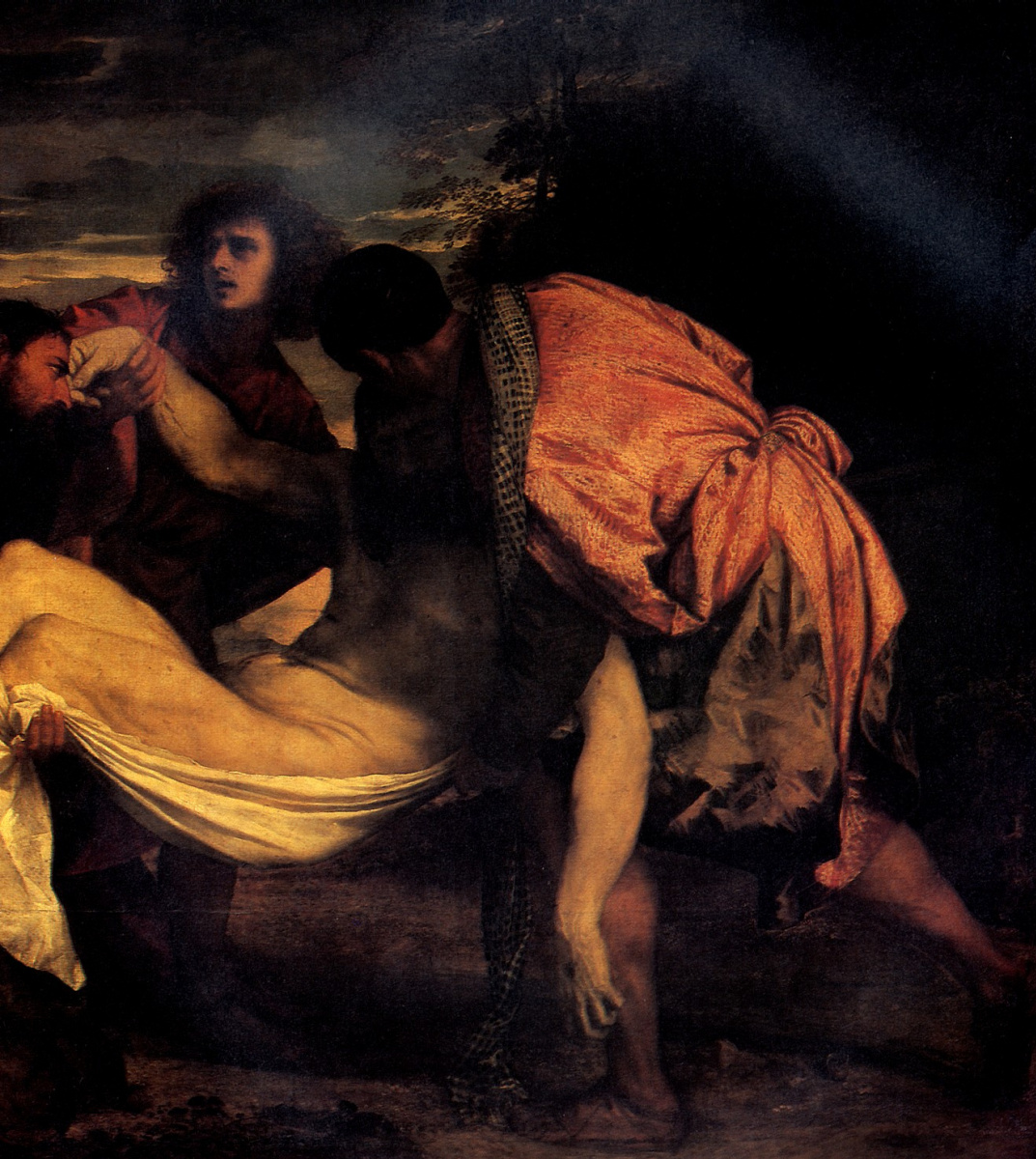 Titian Vecelli. Entombment. Fragment